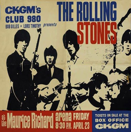 Rolling Stones Concert - CKGM Poster